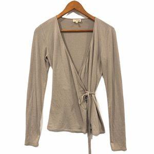 Aritzia Wilfred Free Wrap Sweater Grey Small